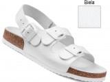 Ortopedická obuv, sandále, 040462 biela