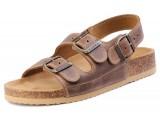 Školská, ortopedická, sandálová obuv, 006462 tmavo-hnedá