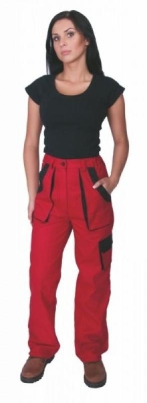 Dámske nohavice ELENA do pásu červené