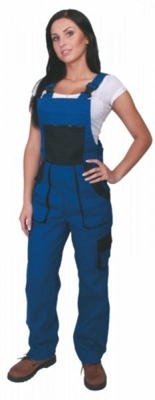 Dámske nohavice SABINA s náprsenkou modré