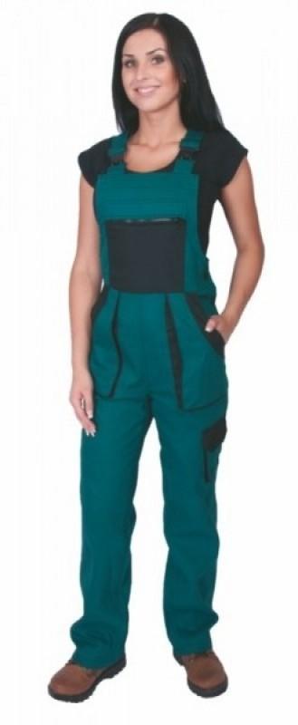 Dámske nohavice SABINA s náprsenkou zelené