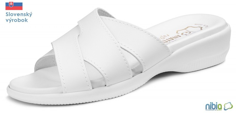Dámska anatomicka sandálová obuv, 080042 biela
