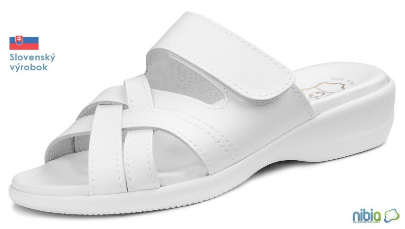Dámska anatomicka sandálová obuv, 080043 biela