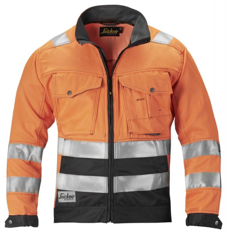 Bunda, reflex EN 471 tr.3 1433, oranžová reflexná - tlmená čierna