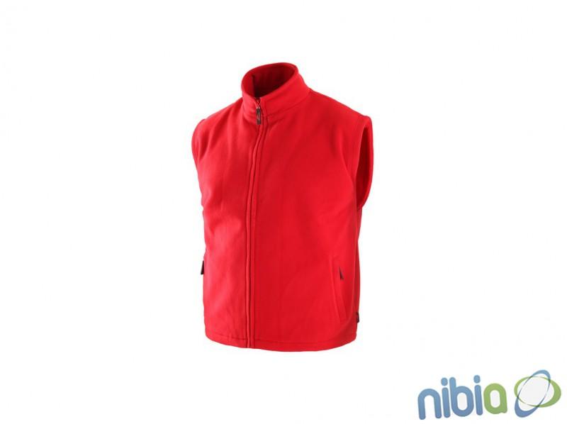 Fleecová vesta UTAH červená