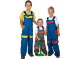 Detská pracovná kombinéza modro-žltá