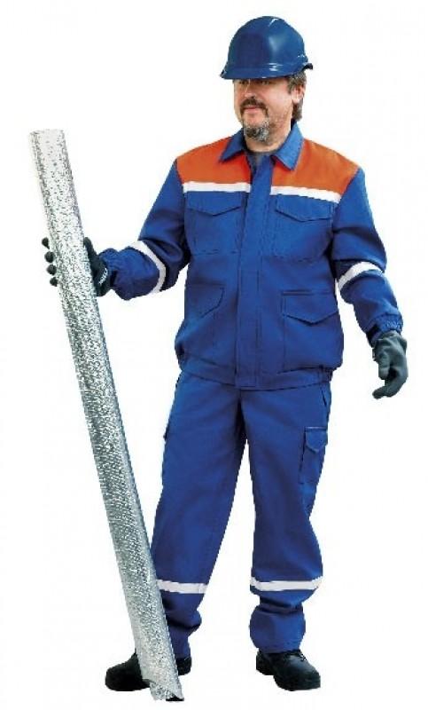 Antistatický oblek s nehorľavou úpravou modrý