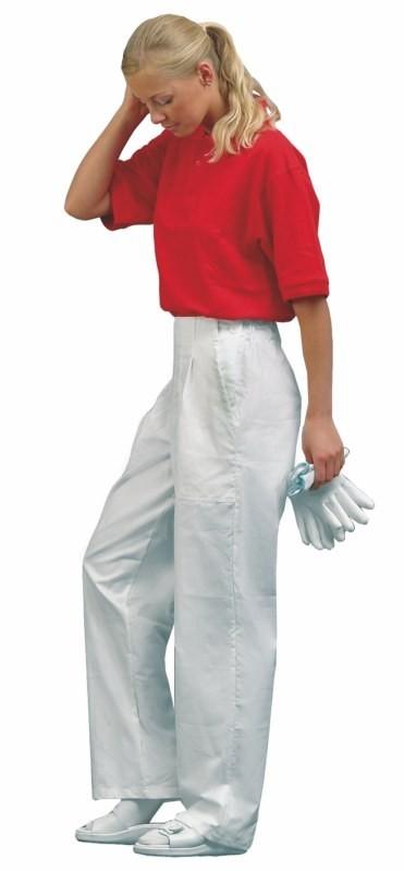Dámske nohavice DARJA do pásu biele