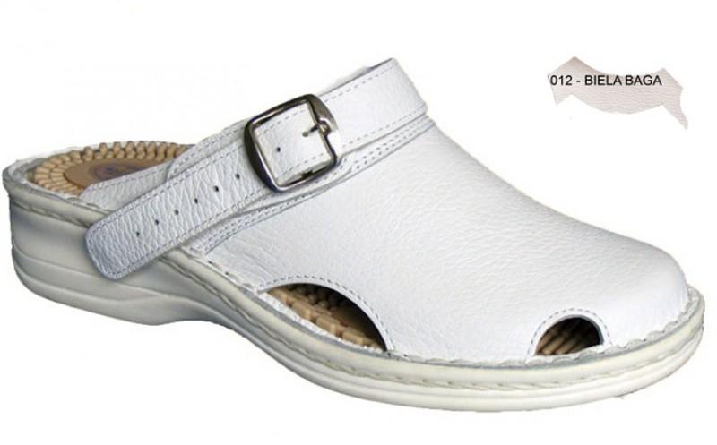 Dámske ortopedické šlapky s prackou 05-506/P, biela baga - 012