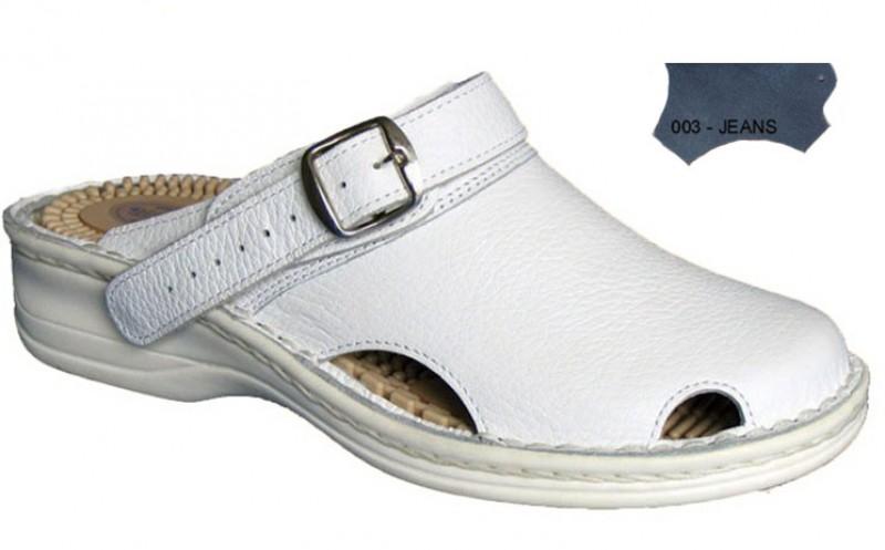 Dámske ortopedické šlapky s prackou 05-506/P, jeans - 003
