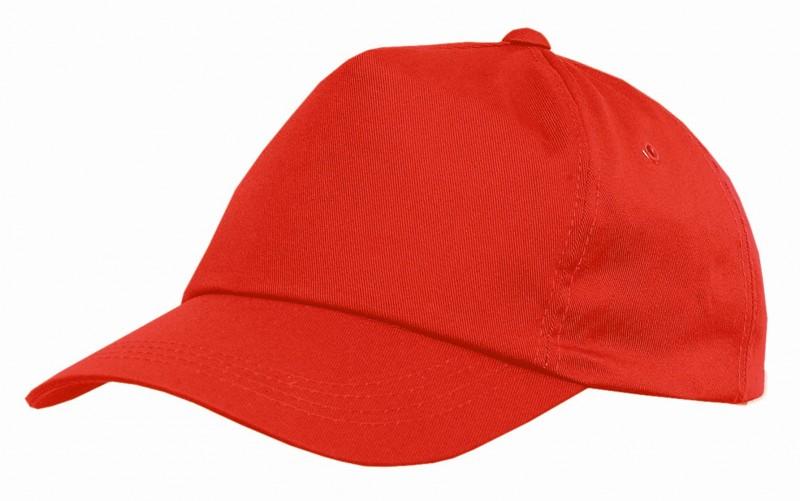 Baseballová čiapka so šiltom PHIL, Červená