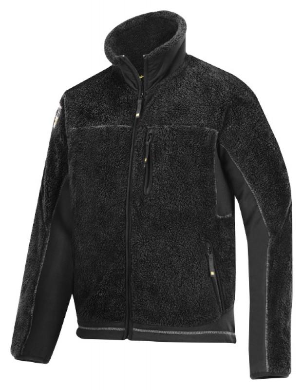 Bunda fleeceová Baránok na zips 8011, čierna - čierna