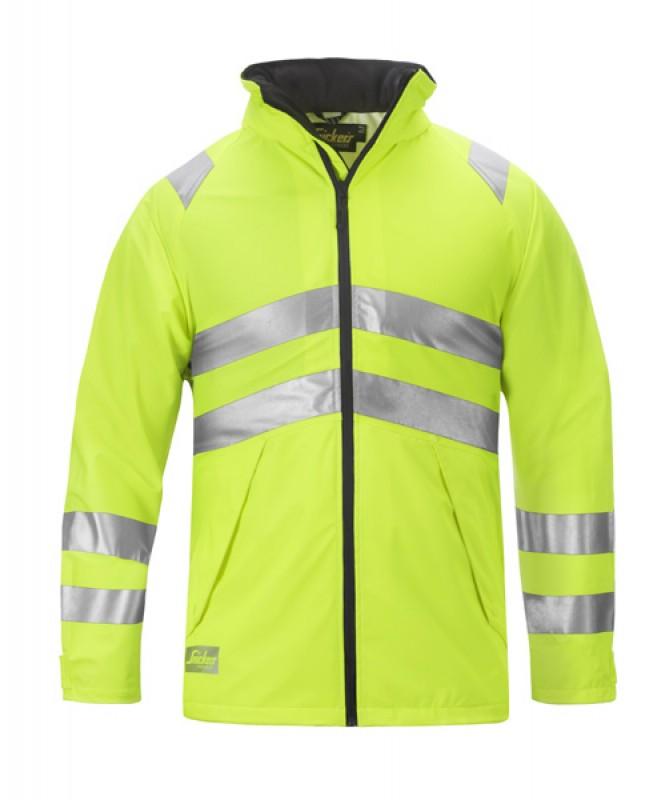 Bunda PU do dažďa, reflex EN 471 tr.3 9063, žltá reflexná