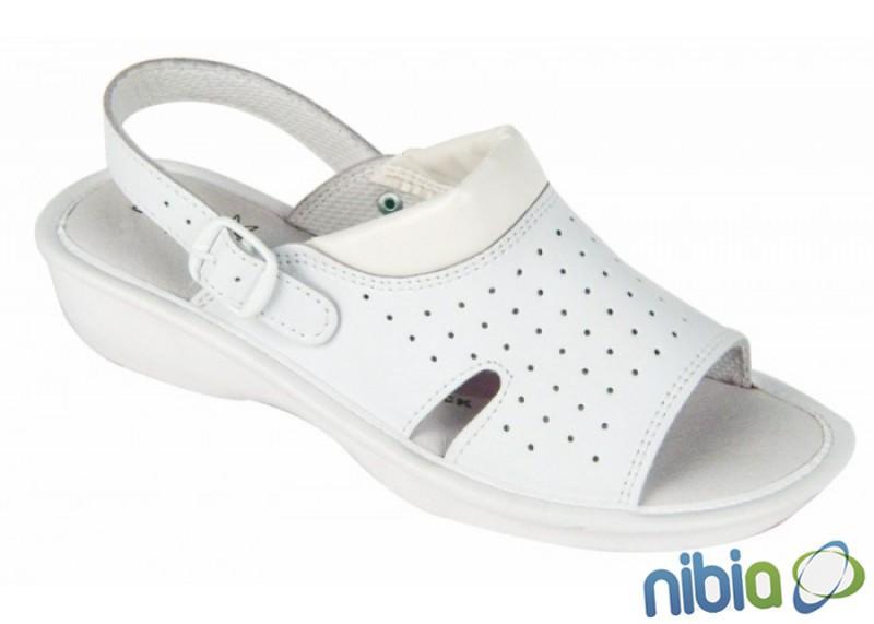 biele dámske sandále kožené LIME v