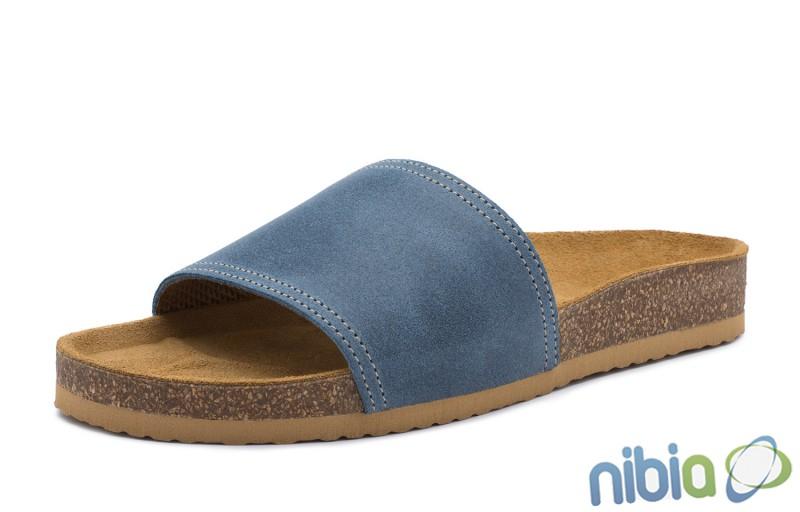 Rovná vsuvková ortopedická obuv modrá