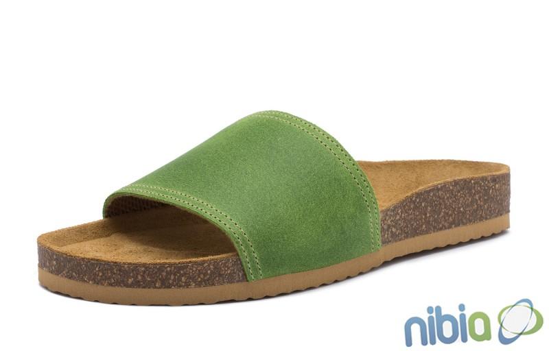 Rovná vsuvková ortopedická obuv zelená