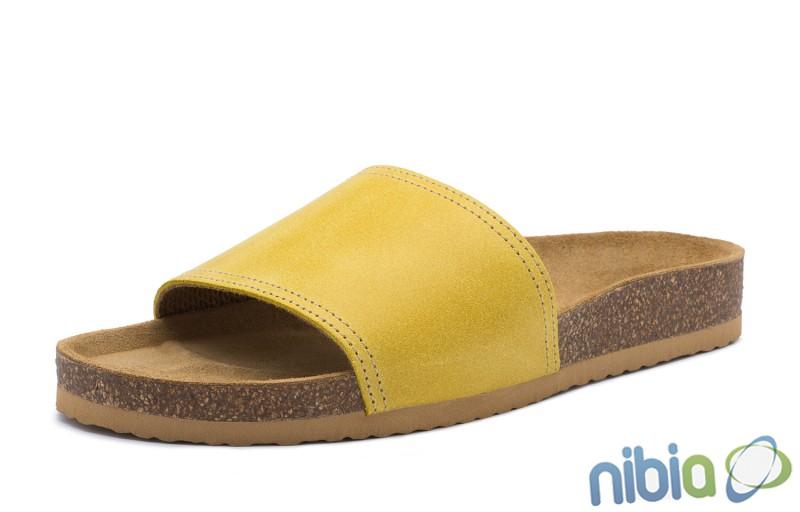 Rovná vsuvková ortopedická obuv žltá