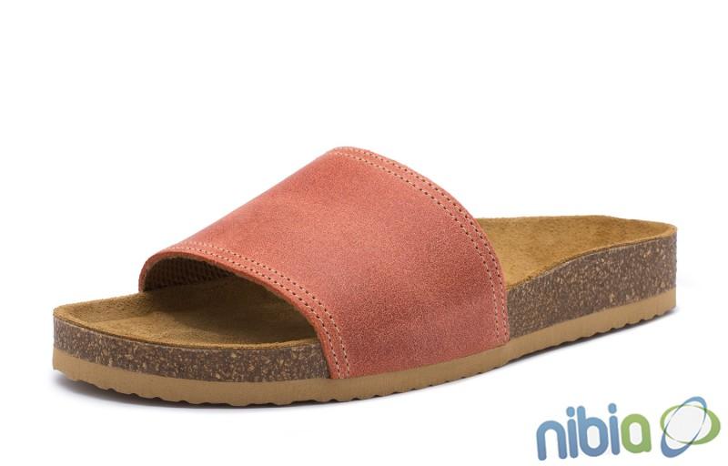 Rovná vsuvková ortopedická obuv oranžová