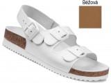 Ortopedická obuv, sandále na klínovej podošve, 030049 béžová
