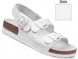 Ortopedická obuv, sandále na klínovej podošve, 030049 biela