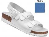 Ortopedická obuv, sandále na klínovej podošve, 030049 modrá