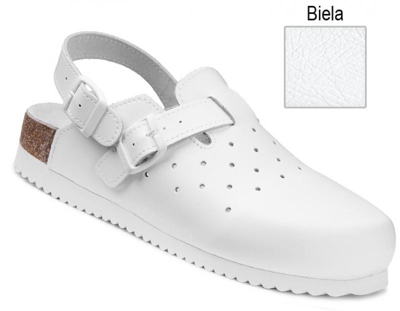 e76ae5fdb645 Ortopedická obuv korková biela s uzavretou špicou 070509 Nibia.sk ®