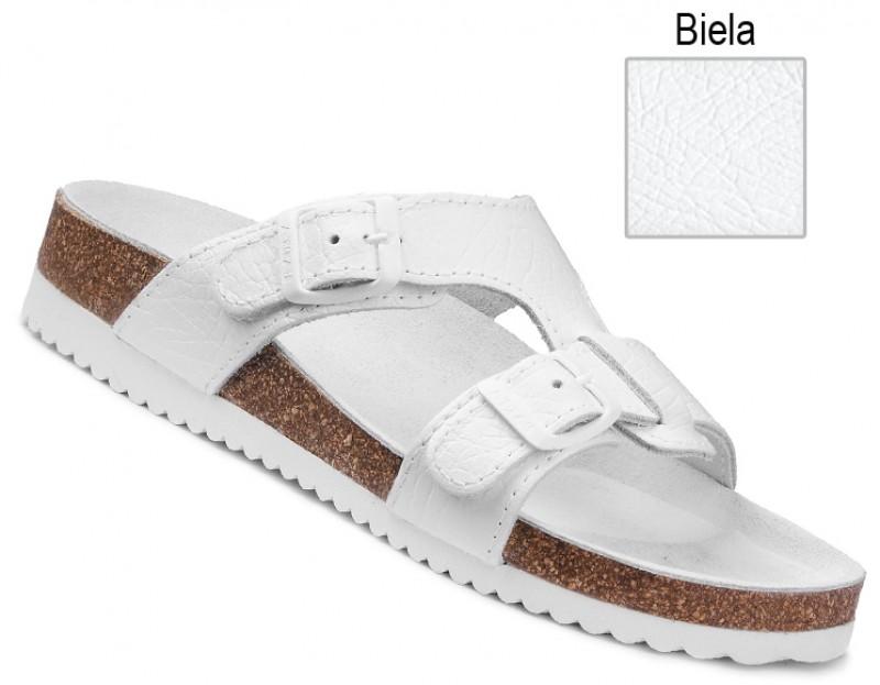 9cfb551dfee1 Ortopedická obuv korková biela na klínovej podošve 080051 Nibia.sk ®