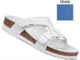 Ortopedická obuv, na klínovej podošve, 080051 modrá