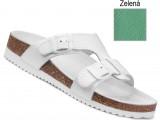 Ortopedická obuv, na klínovej podošve, 080051 zelená