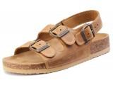 Školská, ortopedická, sandálová obuv, 066462 bledo-hnedá