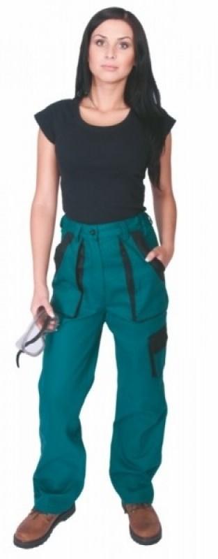 Dámske nohavice ELENA do pásu zelené
