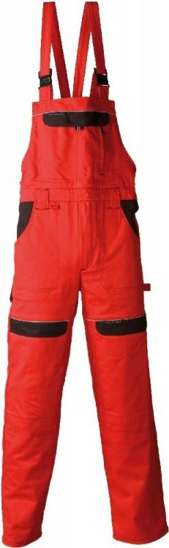 Montérkové nohavice na traky COOL TREND, Červená
