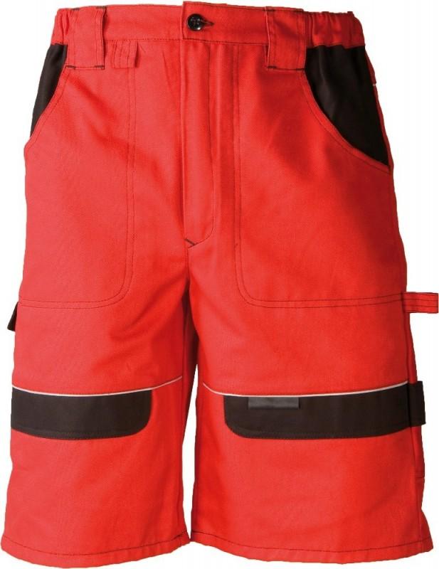 Montérkové krátke nohavice COOL TREND, Červená