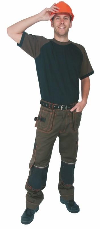 Pracovné nohavice TEODOR hnedo-čierne