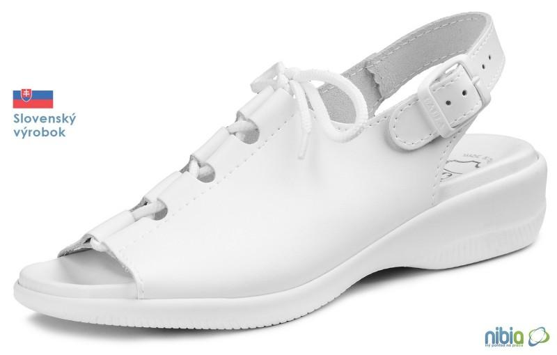 Dámska anatomicka sandálová obuv, 080020 biela