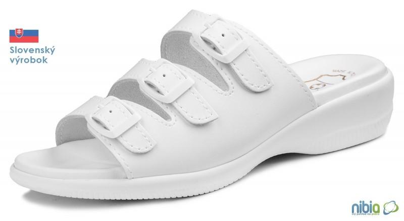 Dámska anatomicka sandálová obuv, 080041 biela