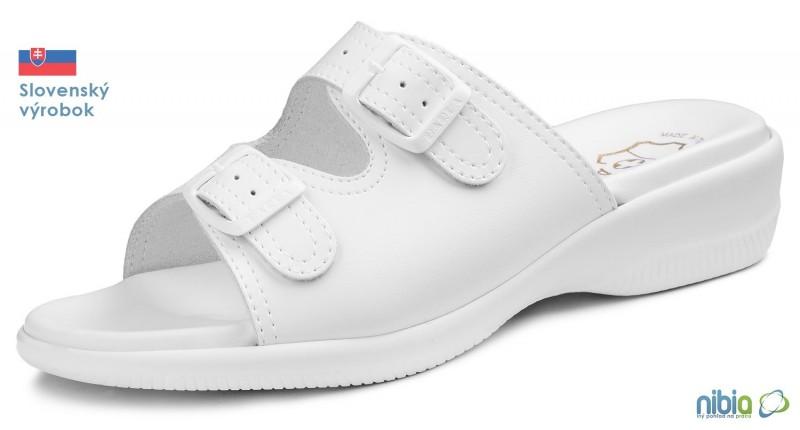 Dámska anatomicka sandálová obuv, 080058 biela