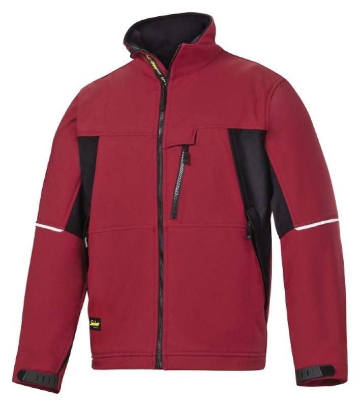 Bunda Soft Shell 1212, červená čilli - čierna