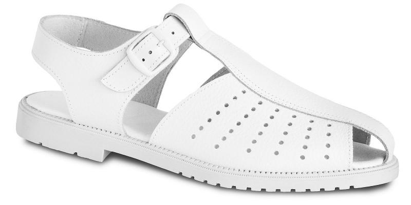 Biele sandále 7-980020