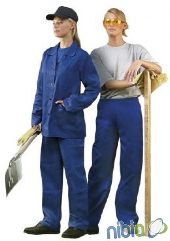 Dámske nohavice HELA do pásu modré v