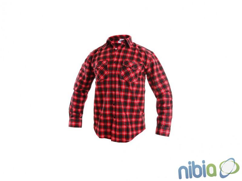 Flanelová košeľa tom červená