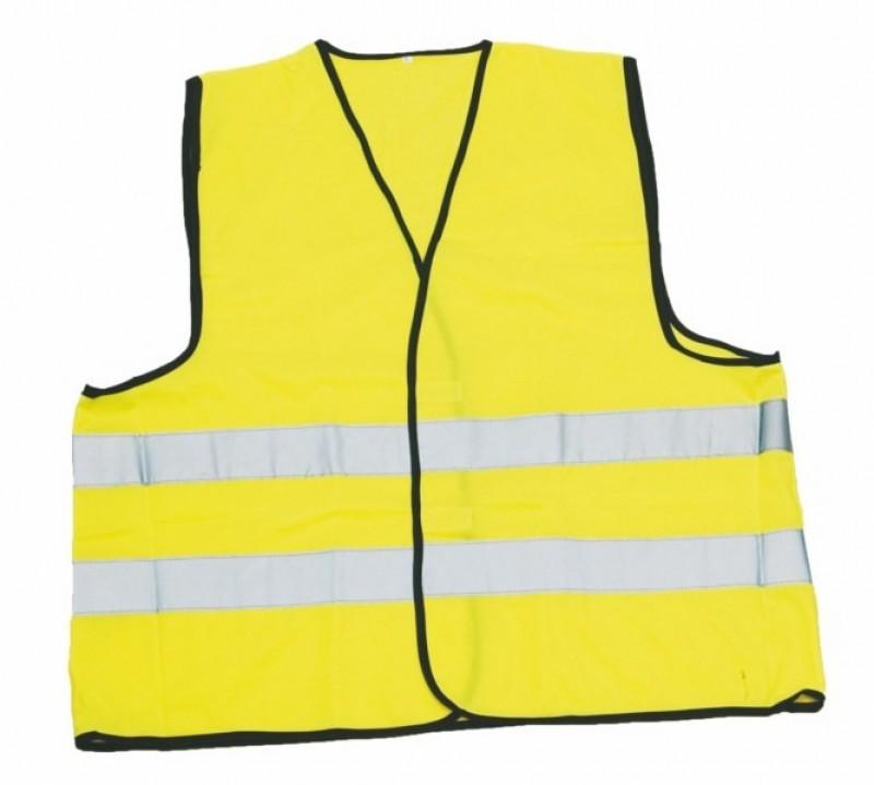 Reflexná výstražná vesta GUSTAV žltá