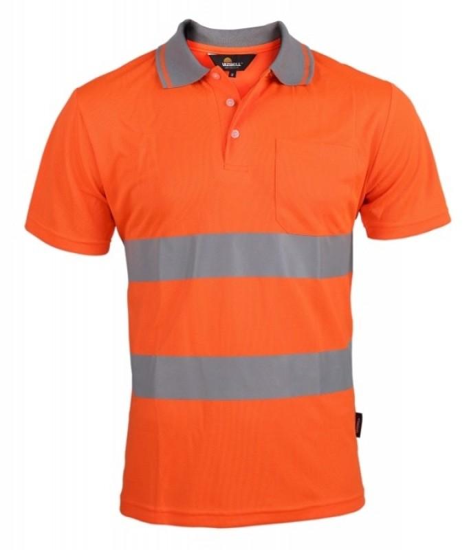 Tričko s golierikom, výstražné, oranžová