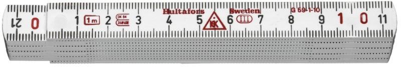 Meter skladací laminátový 1m G 59-1-10 VI