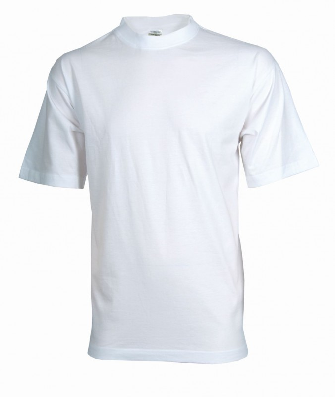 Tričko daniel s krátkymi rukávmi, Biela