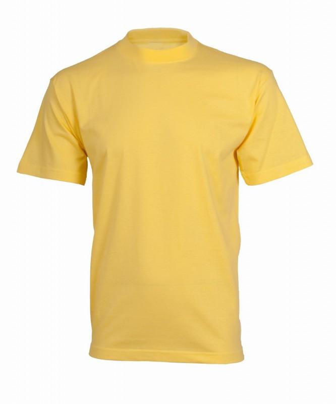 Tričko daniel s krátkymi rukávmi, Žltá