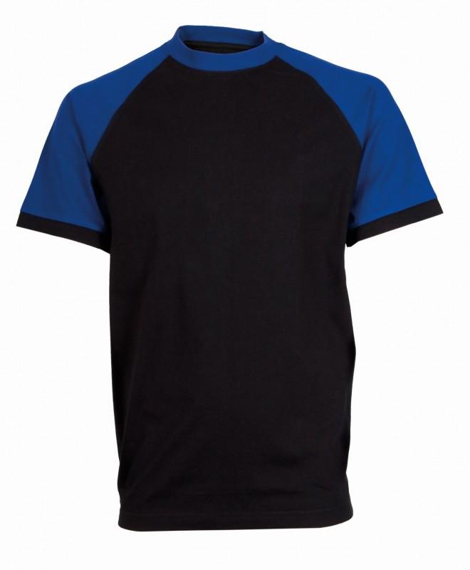 Tričko OLIVER krátke rukávy, Modro-čierna