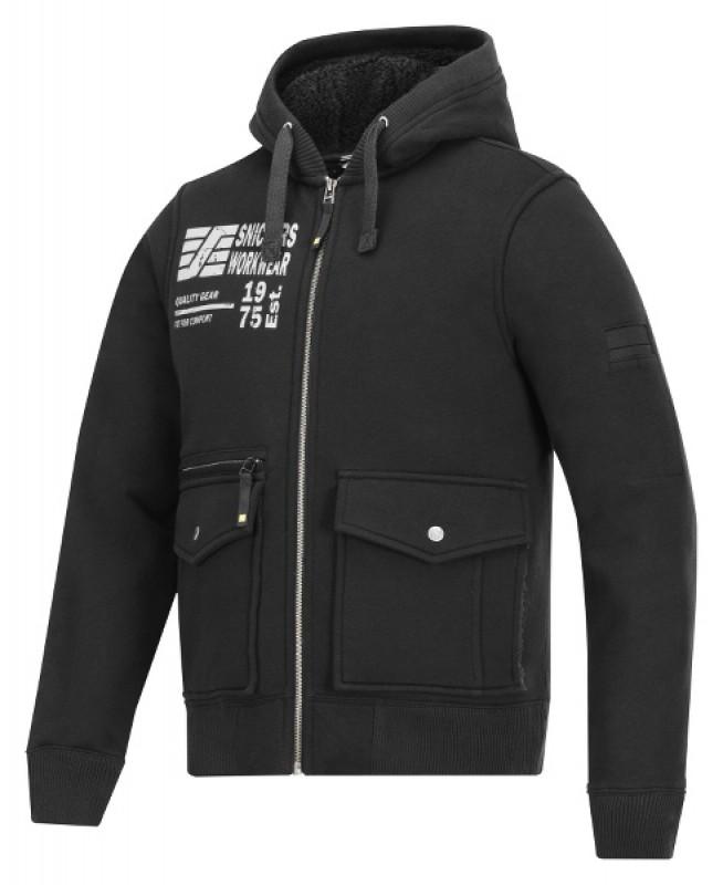 Mikina Baránok s kapucňou, na zips 2817, čierna