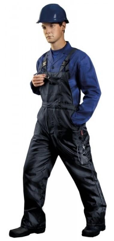 Zimné nohavice VIRGINIA s náprsenkou modré