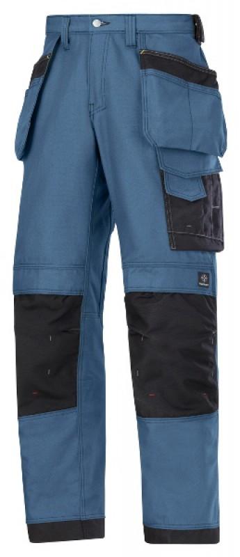 Nohavice Canvas+™ remeselnícke 3214, morská modrá - čierna